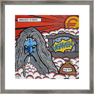 Heaven And Hell Part 1 - Heaven? Framed Print by Simon Moulding