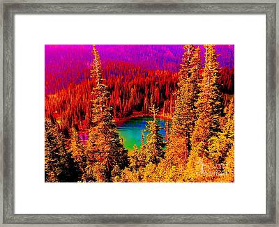 Heaven And Nature Sing Framed Print by Ann Johndro-Collins