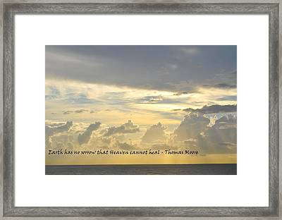 Heaven Framed Print by BandC  Photography