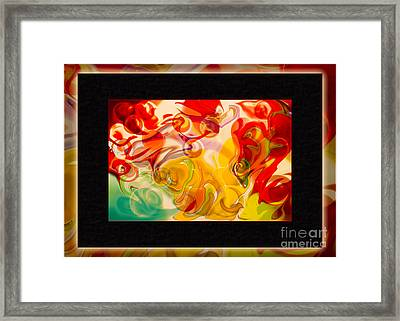 Heaven Conquers Hell An Abstract Adventure Framed Print by Omaste Witkowski