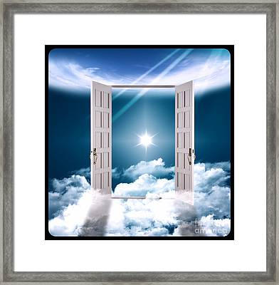 Heaven Gate On Clouds Framed Print