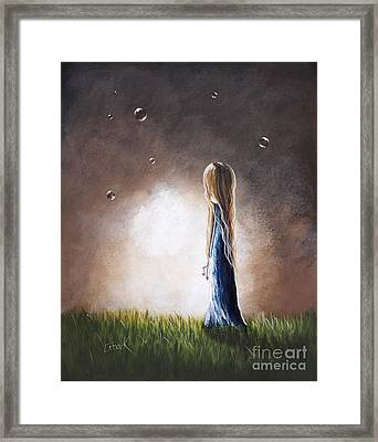 Heaven Heard Her Prayers Tonight By Shawna Erback Framed Print by Shawna Erback