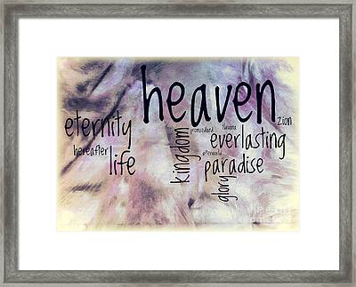 Heaven  Framed Print by Jean OKeeffe Macro Abundance Art