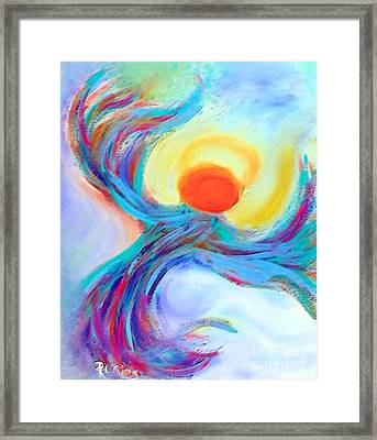 Heaven Sent Digital Art Painting Framed Print by Robyn King