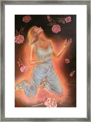 Heaven Sent Framed Print by Marianne Stokes
