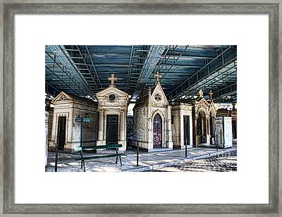 Heaven Under The Overpass Framed Print by Crystal Nederman