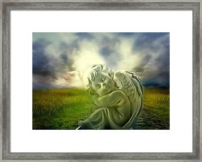 Heavenly Angels Vintage Cool Version Framed Print by Georgiana Romanovna