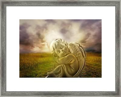 Heavenly Angels Vintage Framed Print by Georgiana Romanovna