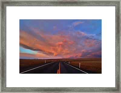 Framed Print featuring the photograph Heavenly Clouds by Lynn Hopwood