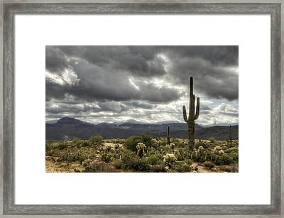 Heavenly Desert Skies  Framed Print
