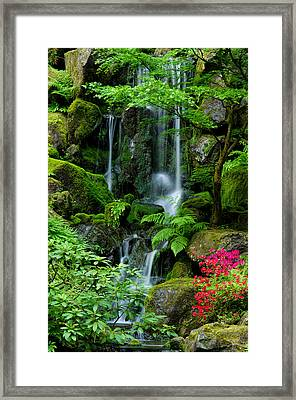 Heavenly Falls Serenity Framed Print