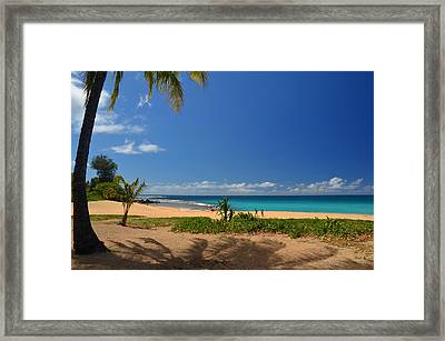 Heavenly Haena Beach Framed Print by Marie Hicks