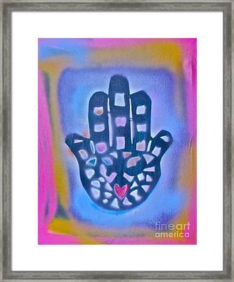 Heavenly Hamza 1 Framed Print by Tony B Conscious