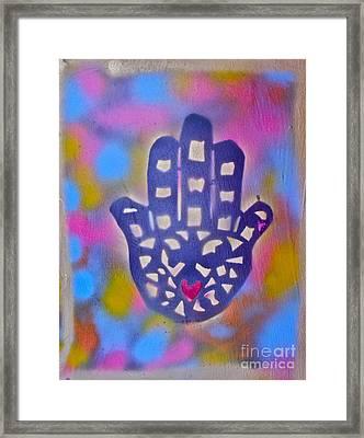 Heavenly Hamza Framed Print by Tony B Conscious