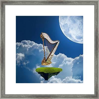 Heavenly Harp Framed Print by Marvin Blaine