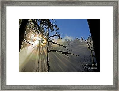 Heavenly Manifestation Framed Print
