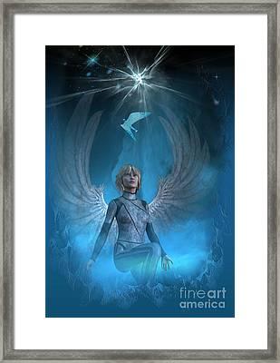 Heavenly Messenger Framed Print by Shadowlea Is