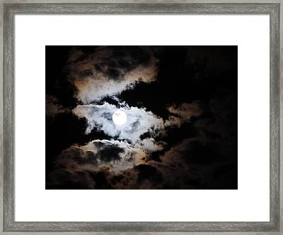 Heavenly Moon Framed Print by Marie-Claire Dole