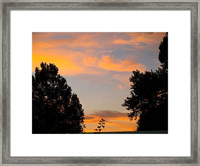 Heavenly Orange Framed Print