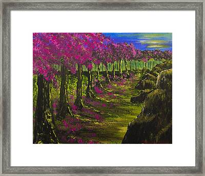 Heavenly Path Framed Print by Jacqueline Martin