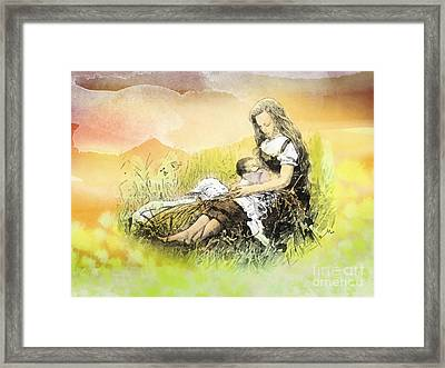 Heavenly Peace Framed Print by Mo T