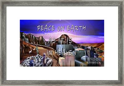 Heavenly Peace On Earth  Framed Print by Reggie Duffie