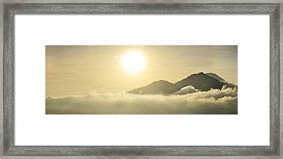 Heavenly Peaks Framed Print