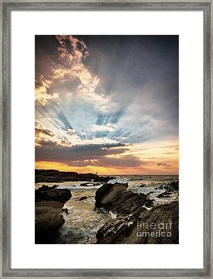 Heavenly Skies Framed Print by John Swartz