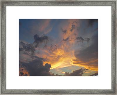 Framed Print featuring the photograph Heavenly Sky by Bill Woodstock