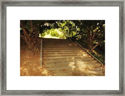 Heavenly Stairway Framed Print by Madeline Ellis