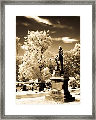 Framed Print featuring the photograph Heavenly Statue by David Stine