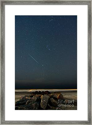 Heavenly Streak Framed Print by Matthew Trudeau