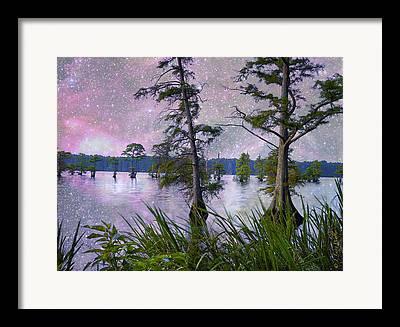 Heavenly Sunrise Digital Art Framed Prints
