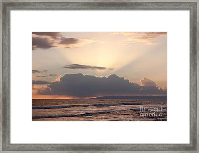 Heavenly Sunset Framed Print