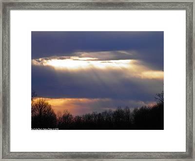 Heavenly Sunset Framed Print