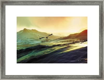 Heavens Breath 29 Framed Print by The Art of Marsha Charlebois