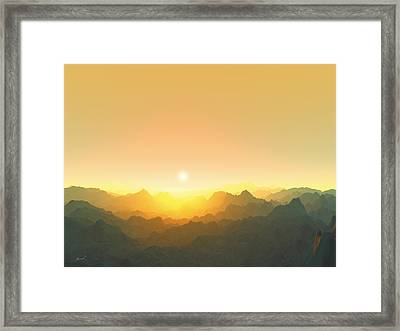 Heavens Breath 3 Framed Print by The Art of Marsha Charlebois