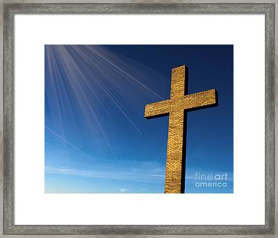 Framed Print featuring the photograph Heaven's Cross by Michael Waters