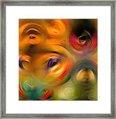 Heaven's Eyes - Abstract Art By Sharon Cummings Framed Print