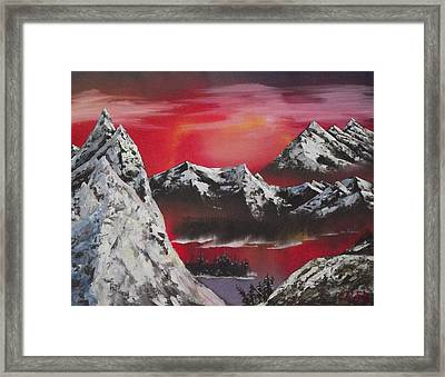 Heavens Ignite Framed Print by Caleb Mitchell