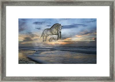 Heavens In The Sky Framed Print by Betsy Knapp
