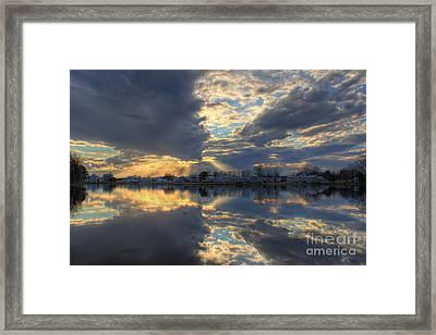 Heaven's Joy Framed Print by Leslie Kirk