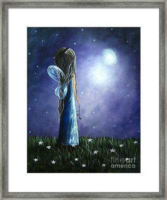 Heaven's Little Helper By Shawna Erback Framed Print by Shawna Erback