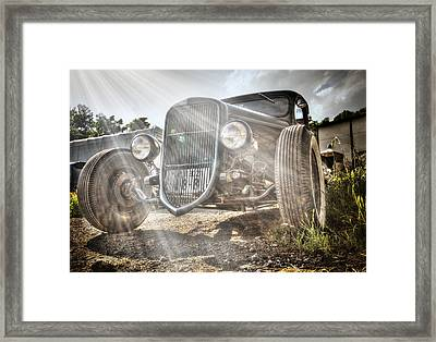 Heavens Model T Framed Print