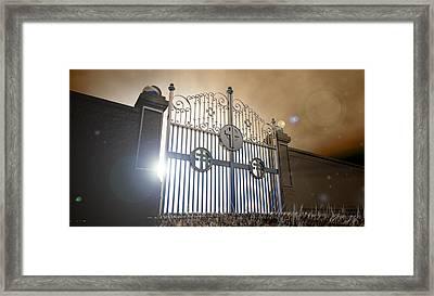 Heavens Open Gates Framed Print