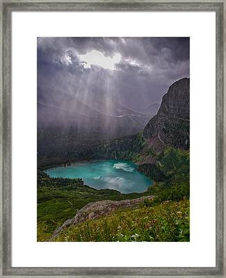Heavens Open Framed Print