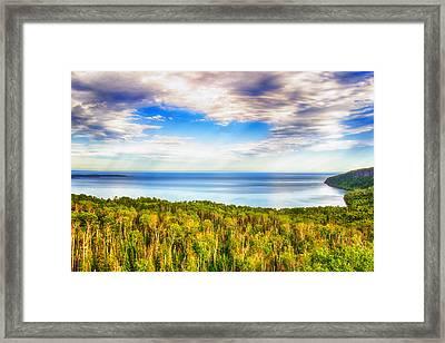 Heavens Over Lake Superior Framed Print