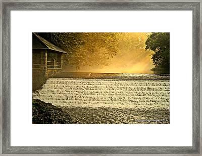 Heaven's Rays Framed Print
