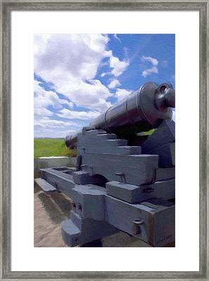 Heavy Artillery Framed Print by Jeff Kolker