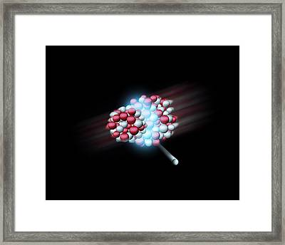 Heavy Atomic Nuclei Colliding, Artwork Framed Print by Science Photo Library